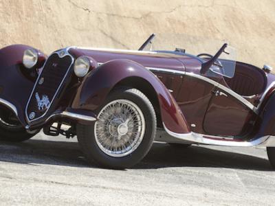 1939 Alfa Romeo 6C 2300B Corto Spider in the Style of Touring
